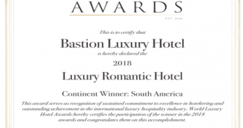 Bastión Luxury Hotel, Ganador en los World Luxury Hotel Awards
