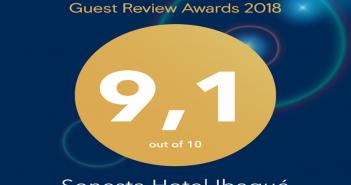 Premio Guest Review Award de Booking para el Hotel Sonesta Ibagué