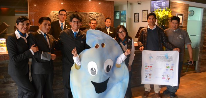 Actividad del día del Agua en el Hotel Sonesta Cusco