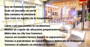 El Hotelero Llanero: Poema